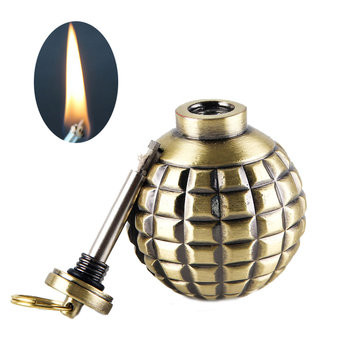 IPRee® Metal Kerosene Lighter Vintage Portable Refillable Grenade Windproof Lighter
