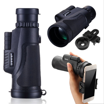 IPRee™ 12X50 Hiking Concert Monocular HD BAK4 Zoom Lens Telescope Smartphone Holder