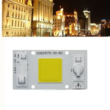 LUSTREON 30W 50W Warm White/White LED COB Chip Light for Downlight Panel Flood Light Source AC180-260V