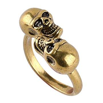 Punk Finger Ring Skull HeaD-shape Design Jewelry Accessories for Men Women