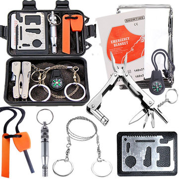 Outdoor Sports SOS Emergency Survival Equipment Kit Tactical Hunting Tool