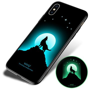 Bakeey 3D Night Luminous Protective Case For iPhone X