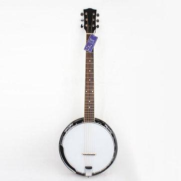 6-string banjo aleación profesional exquisita madera Notopleura sapelli