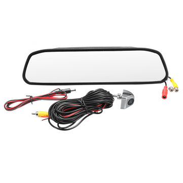 4.3 Inch Car TFT Color LCD Display Monitor Mirror HD CCD Reverse Rear View Backup DVR Camera Kit