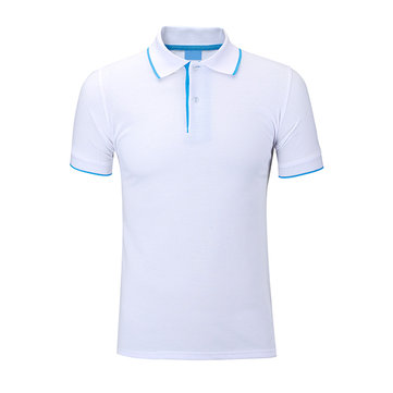 Mens Summer Casual Solid Color Polo T-shirt Turn-down Collar Short Sleeve Tops