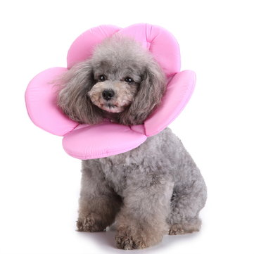 New Soft Sponge Flower Shape Dog Cat Collar Pet Elizabeth Circle Wound Healing Medical Anti-Bite