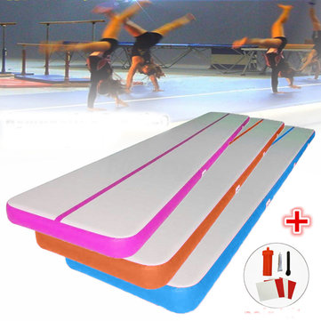 118.11x19.69x3.94 Inch PVC Airtrack Gymnastics Mat Inflatable Gym Mat Yoga Fitness Training Pads + Repair Kits