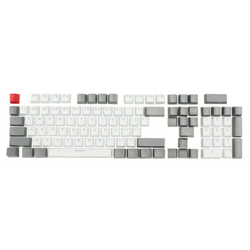 104 White-Gray Translucent PBT Backlit Key Caps Small Font Keycaps voor Mechanical Keyboard