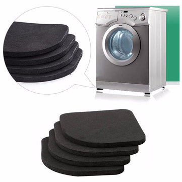 4Pcs 7.7x7.7cm Refrigerator Electrical Anti-Slip Pads Anti Vibration Mat Bathroom Washing Machine Mute Shock Pad Square Table Mats