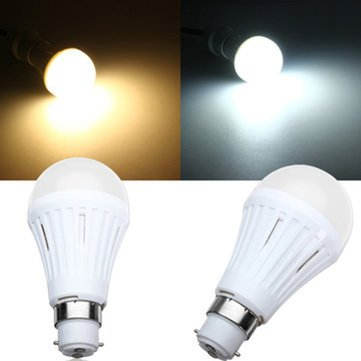 B22 7W SMD3024 Dimmable Warm White/White LED Light Globe Bulb 200-260V