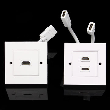 2 Port Wall Plates Dual Outlet Wall Plate Socket for Theater DVD Cable
