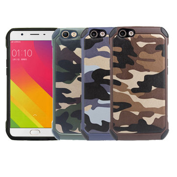 Army Camouflage Fashion Style TPU+PC Back Cover Case For OPPO F1s