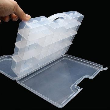 Dubbelzijdig aanpakbox Transparant zichtbaar visvangvak 29,5 * 20,5 * 6,2 cm