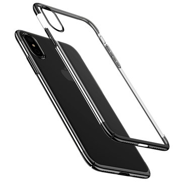 Baseus Plating Ultra Thin Clear Transparent Hard PC Case for iPhone X