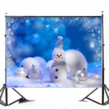 Vinyl Fabric Christmas Snowman Studio Photography Background Backdrop