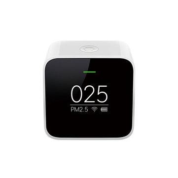 Orijinal Xiaomi Siyah Akıllı OLED Ekran Doğru Lazer Sensör Hava Kalitesi Monitör PM 2.5 Dedektör