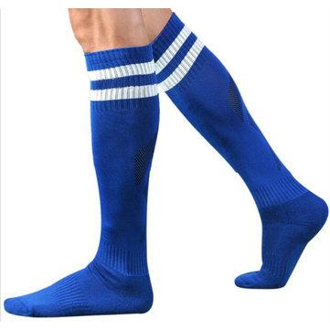 IPRee™ Adult Above Knee Football Socks Sweat Towel Socks Stripe Sport Knee High