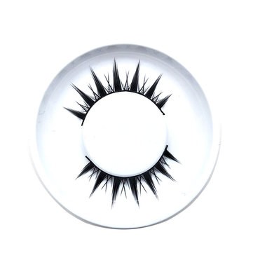 1 pair 3D Cross Black Mink Natural False Eyelashes