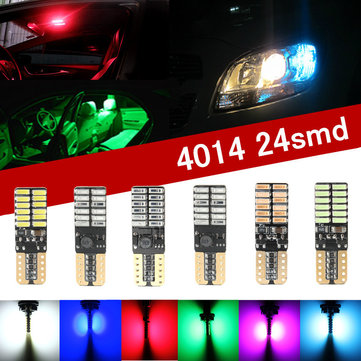 3W W5W 501 T10 4014SMD 24 LED Canbus Error Free License Side Interior Light Bulb