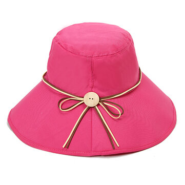 Women Summer Wide Birm Sun Hat Casual Outdoor Beach Foldable Sunshade Visor Cap
