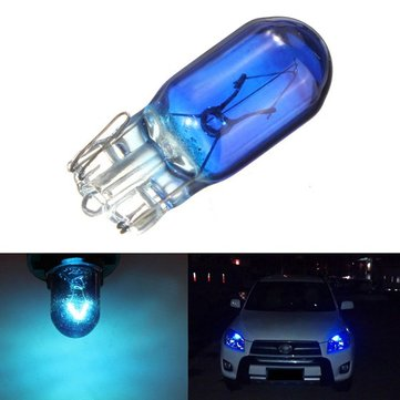 Single T10 168/W5W DC12V 5W Blue Halogen Car Side Marker Lights Front Parking Bulb Lamp