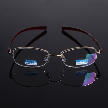 HD Coated Resin Lens Anti-radiation Presbyopic Reading Glasses Half Frame Anti-fatigue