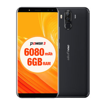 Ulefone Power 3 6.0 Inch 6080mAh Face ID 6GB RAM 64GB ROM MT6763 Octa core 4G Smartphone