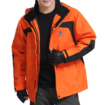 Windproof Waterproof Breathable Warm Hood Outdoor Jacket