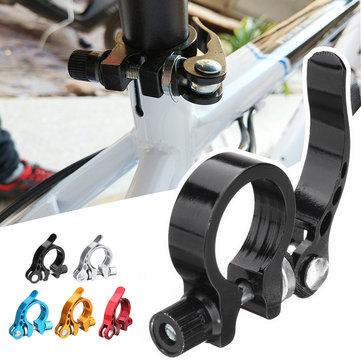 BIKIGHT Aluminum Alloy 28.6mm Bike Bicycle Seatpost Clamp Quick Release For MTB Road Bike 25.4mm Seatpost