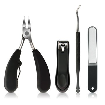 Y.F.M® 4 in 1 Precision Ingrown Toenail Nipper Stainless Steel Nail Clipper File Lifter Cleaner Pedicure Tools
