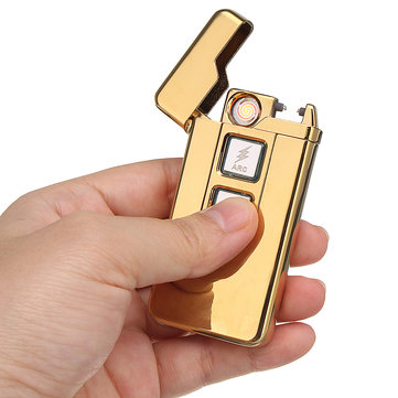 Electric Lighter USB Rechargeable Arc Coil Touch Induction Windproof