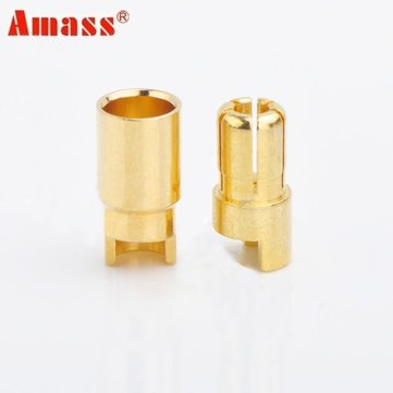 Amass 6.0mm Gold-plated Copper Banana Plug AM-1006A Male & Female