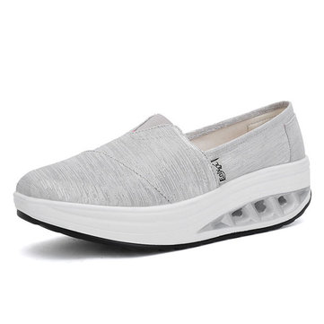 Women Canvas Outdoor Sport Casual Flat Rocker Sole Shoes