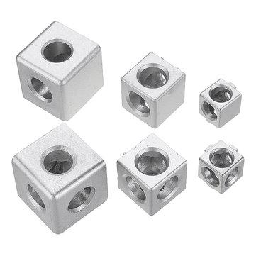 Original Ángulodealuminiode2/3orificios Conector Soporte de esquina de unión Serie 2020/3030/4040 Extrusión de perfil de aluminio