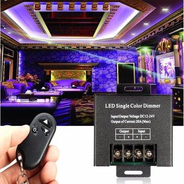 DC12-24V 20A LED Single Color Dimmer Brightness Controller Switch for Strip Light