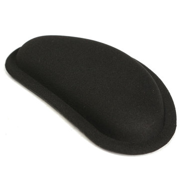Black Anti-Slip Silica Gel Wrist Rest Mouse Pad For Desktop PC Laptop Computer