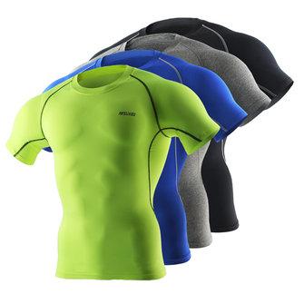 Mens Qucik-drying Riding Outdoor Running Fitness Tight Basketball Training Tees Sports T-shirt
