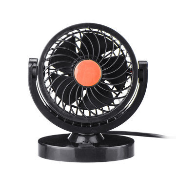 Original DC 12V/24V 360° All-Round Mini Auto Air Cooling Fan Adjustable Low Noise