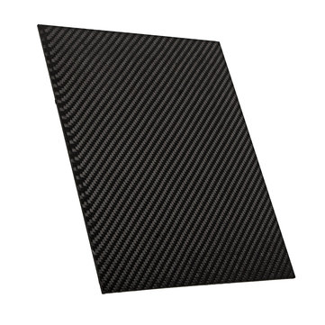 200x250x(0.5-2)mm Carbon Fiber Plate Panel Sheet 3K Twill Weave Glossy Black Carbon Fiber Board