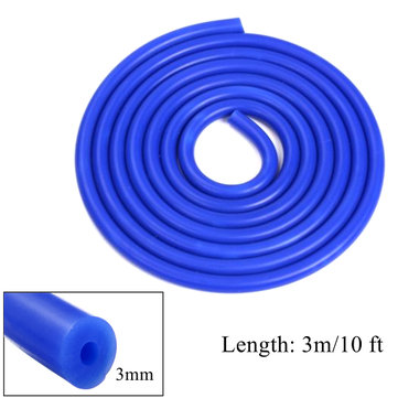 3m Long Blue Silicone Vacuum Hose Turbo Air Intercooler Coupler Pipe 3mm