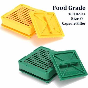 100 Holes Capsule Filling Filler Board Food Grade Machine Flate DIY Set