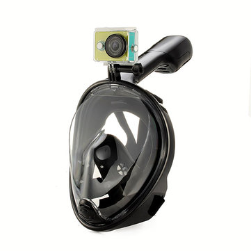 Waterproof Non-fogging Anti Shock M Size Diving Mask Swimming Glasses For GoPro Hero Xiaomi Yi SJCAM