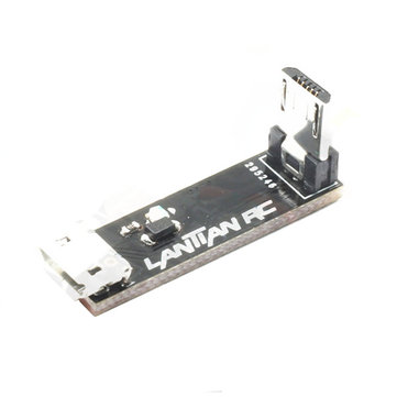 L Type Right Angle Micro USB Transfer Extension Module with LED Light Male To Female for RC Drone