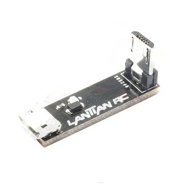 L 타입 직각 마이크로 USB 전송 확장 모듈, LED 라이트 남성을 여성에게 RC 무인 비행기 용