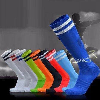 Мужчины взрослые футбольные полосы утолщенные нижние носки длинные трубки гигроскопические противоскольжения спортивные носки