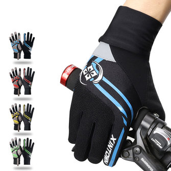 Men Full Finger Gloves Bike Cycling Gloves Outdoor Sports Thick Pad Protect Mittens