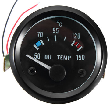 2inch 52mm 12V Universal 50-150 °C Oil Temp Temperature Gauge Meter For Car Motorcycle