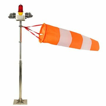 Waterproof Scale Airport Windsock Wind Vane 80cm Orange And White