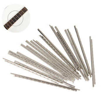 24Pcs Guitar Fret Wire Nickel Silver 60mm Long for Guitar Fretboard Repair