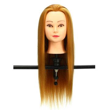 30% de cabeleireiro modelos de cabeça cabelo dourado cabelo real salão de formação manequim corte de cabelo